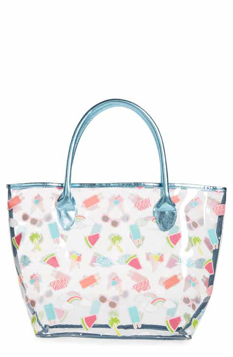 0c0fb17cf0 Capelli New York Happy Summer Sticker Jelly Tote Bag