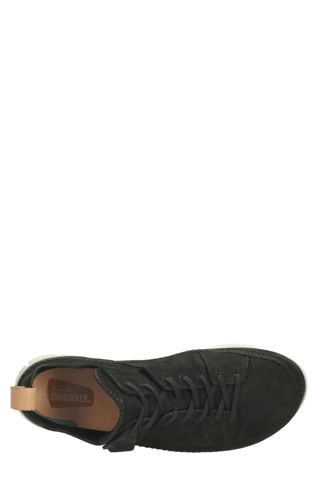Clarks<sup>®</sup> 'Trigenic Flex' Leather Sneaker,                             Alternate thumbnail 3, color,                             Black