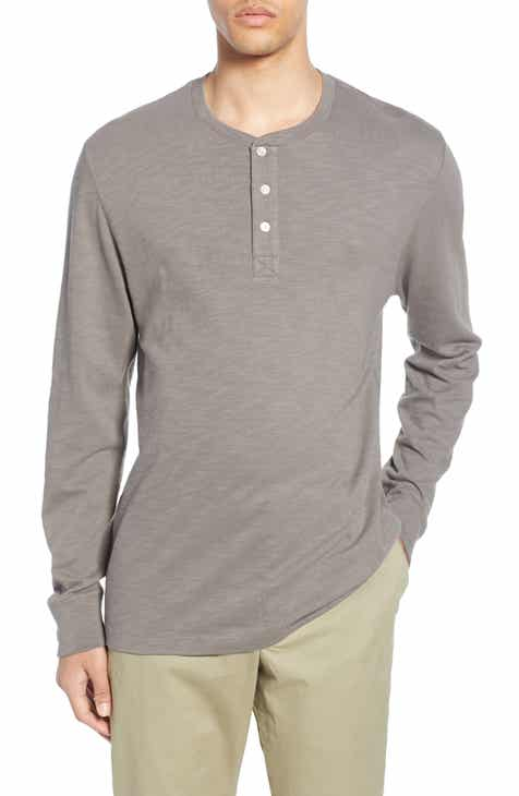 56f699838060a French Connection Slubbed Long Sleeve Henley