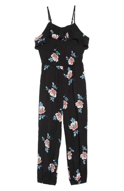 c103662f9a4e Mia Chica Floral Print Jumpsuit (Big Girls)