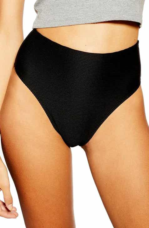 004f37f055197 Topshop Ribbed High Waist Bikini Bottoms