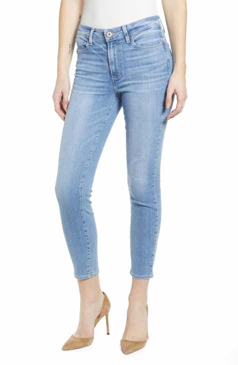 Good American Good Legs High Waist Ankle Skinny Jeans (Blue 089) (Regular & Plus Size) by GOOD AMERICAN