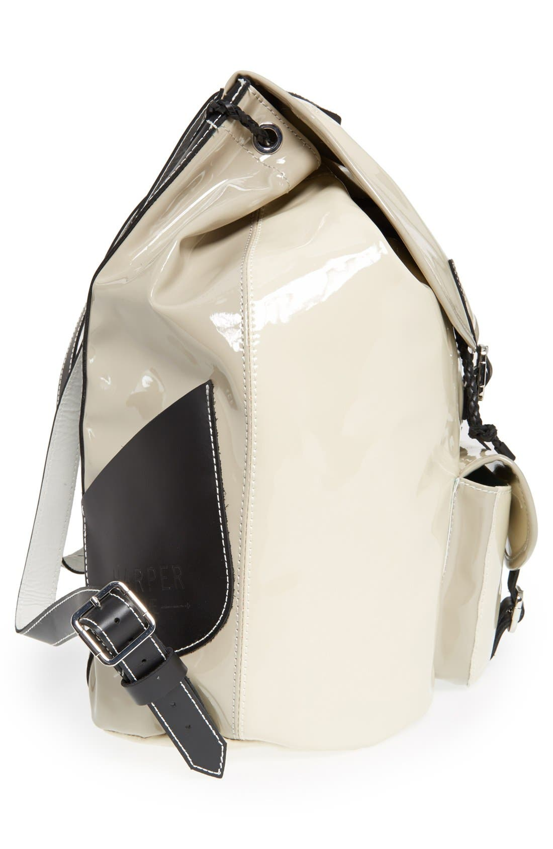 Alternate Image 5  - Harper Ave 'Mueck' Faux Patent Leather Backpack