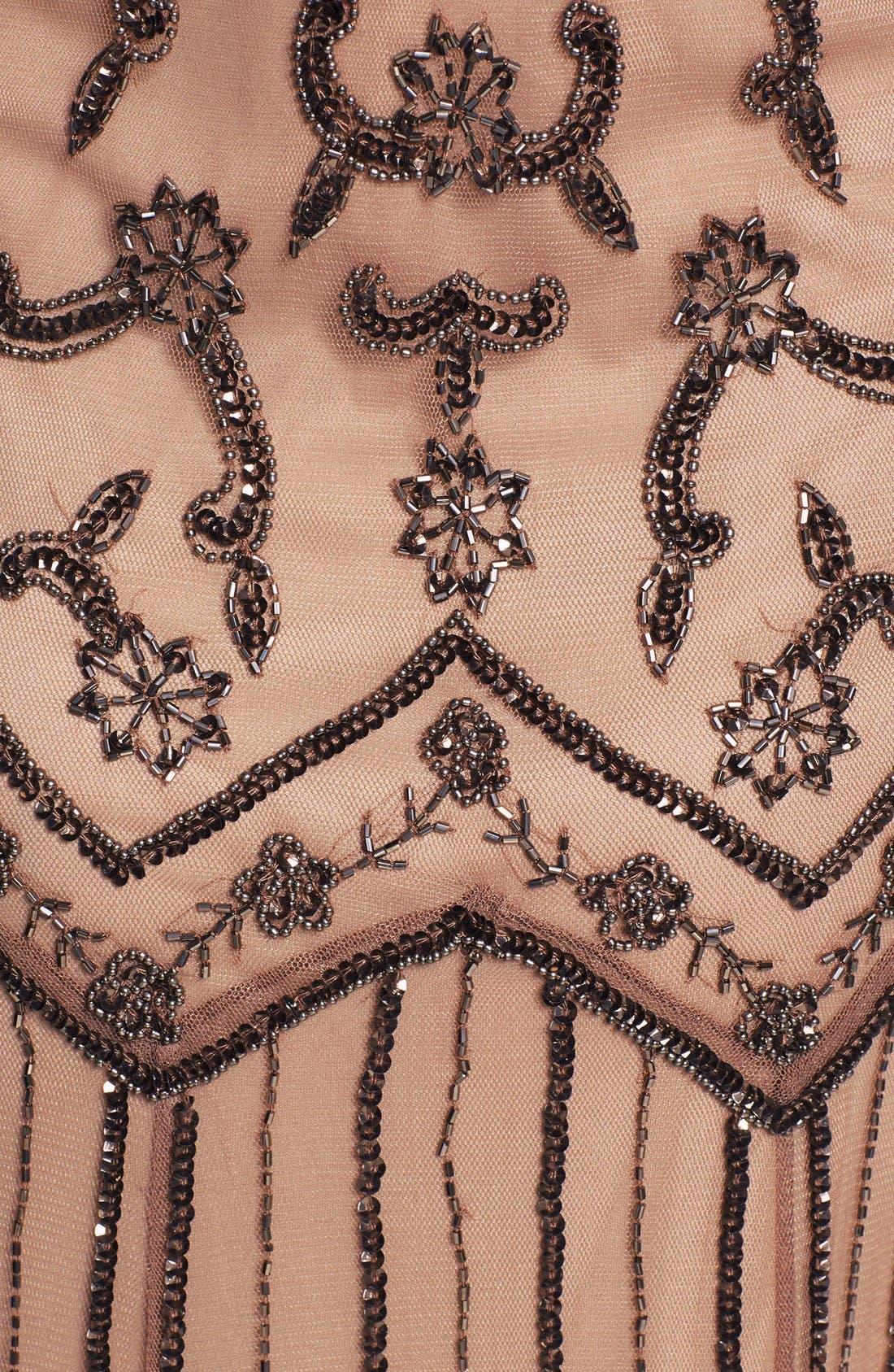 Alternate Image 3  - Pisarro Nights V-Neck Beaded Sequin Gown