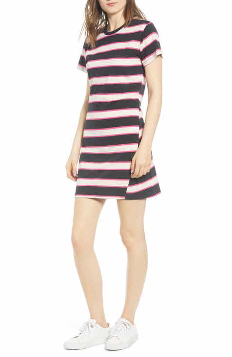 Pam & Gela Stripe T-Shirt Dress by PAM AND GELA