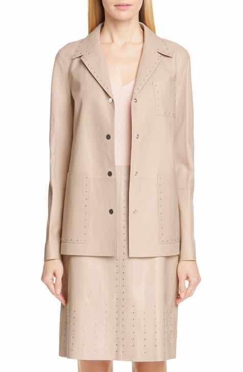 Lafayette 148 New York Jolisa Grommet Detail Leather Jacket by LAFAYETTE 148