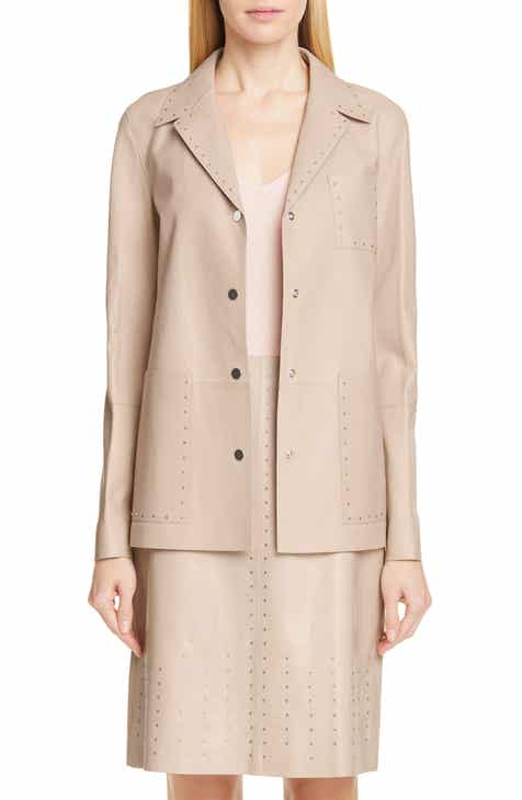 26378f0e7598 Lafayette 148 New York Jolisa Grommet Detail Leather Jacket