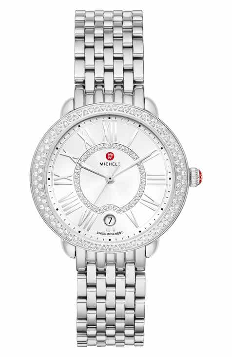 2995c2b06 MICHELE Serein Mid Diamond Watch Head & Bracelet, 36mm x 34mm