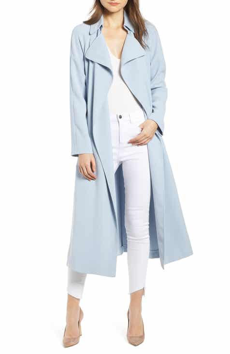 7c989e1c454 KENDALL + KYLIE Side Slit Crepe Trench Coat