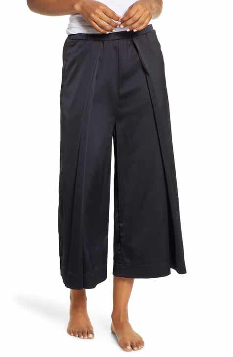 Chalmers Rhiannon Midnight Satin Crop Pants by CHALMERS
