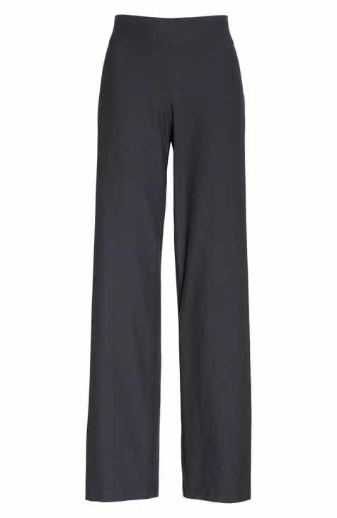 Eileen Fisher Straight Leg Crepe Pants (Regular & Petite) by EILEEN FISHER