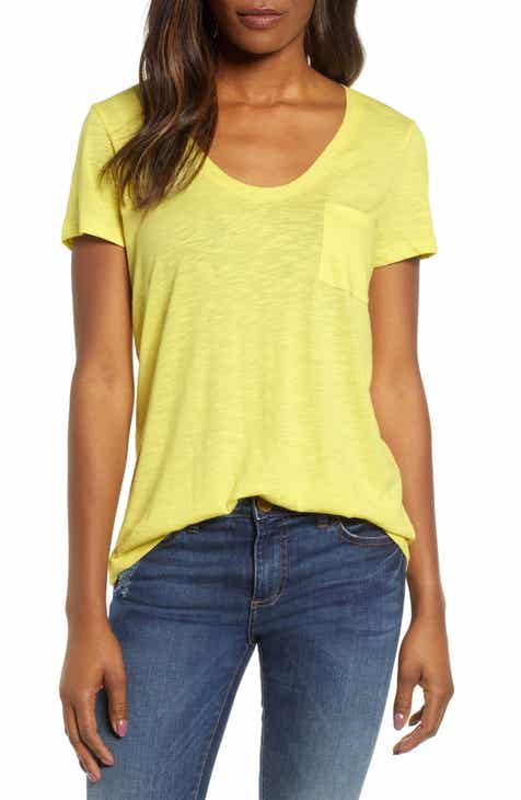 Caslon® Rounded V-Neck Tee (Regular   Petite) (2 for  38) f592ad687