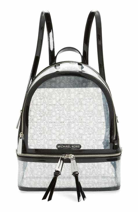 627948df391 MICHAEL Michael Kors Medium Rhea Transparent Backpack
