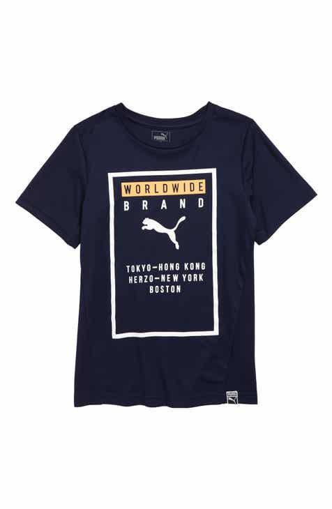190dab55aef PUMA Graphic Interlock Jersey   Mesh T-Shirt (Little Boys)