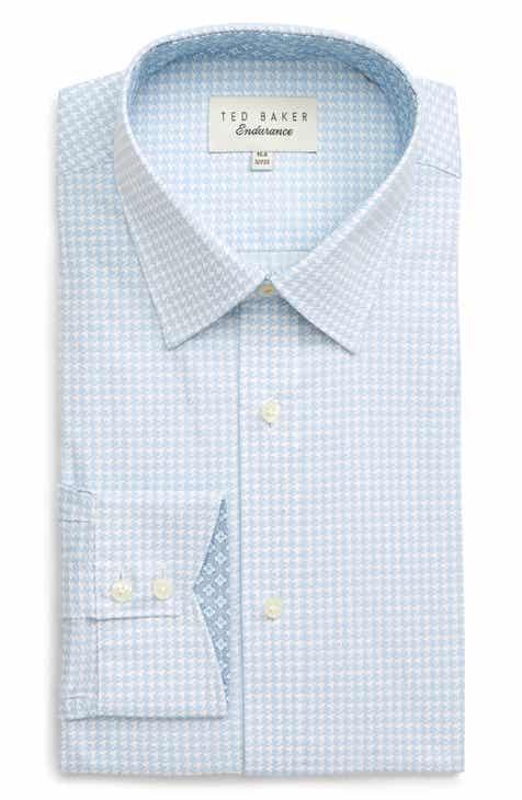 50f0975af05bb2 Ted Baker London Grahite Slim Fit Houndstooth Dress Shirt