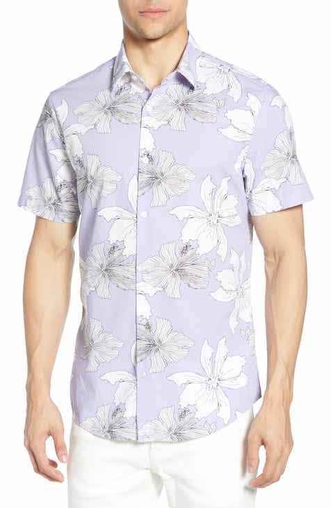0e791c252f42 Calibrate Mini Collar Slim Fit Short Sleeve Cotton Sport Shirt