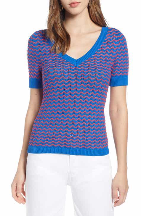 a68ec399785 Halogen® Short Sleeve Sweater