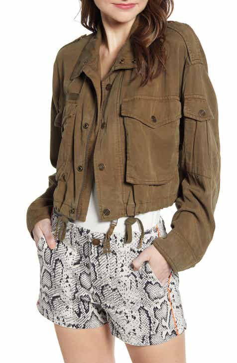 Pam & Gela Crop Cargo Jacket by PAM AND GELA