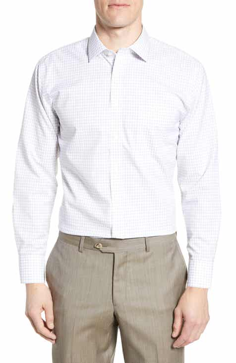 dc8eacf780a Nordstrom Men s Shop Smartcare™ Trim Fit Check Dress Shirt