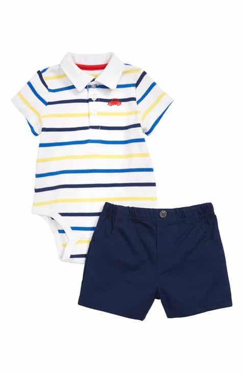 7ea0a88bc98 Little Me Car Stripe Bodysuit   Shorts Set (Baby)