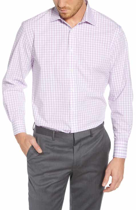 23227f383aec Nordstrom Men's Shop Tech-Smart Traditional Fit Stretch Check Dress Shirt