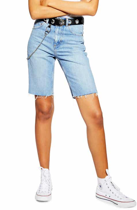 Topshop Rigid Denim Cycle Shorts by TOPSHOP