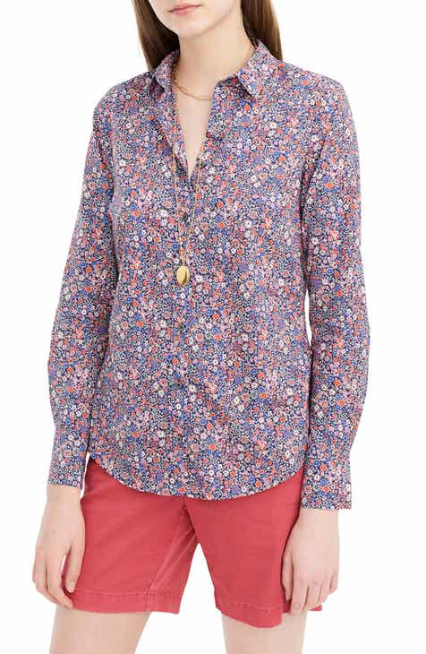 ba28e856288ca J.Crew Liberty® Kayoko Floral Slim Perfect Shirt