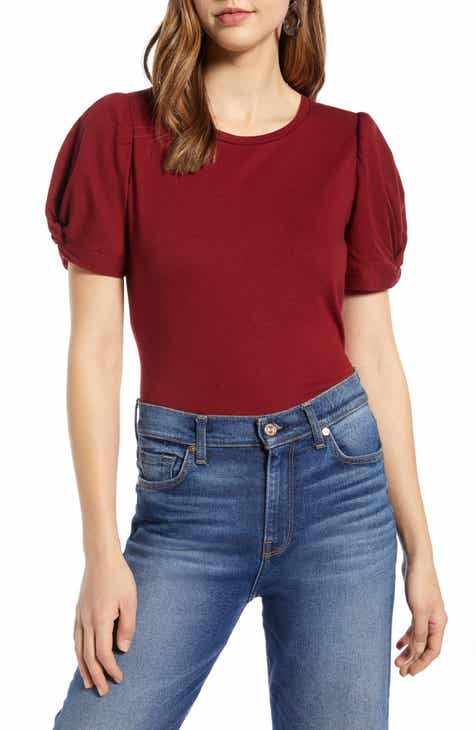 d93637b9 Halogen® Twisted Puff Sleeve Tee (Regular & Petite)