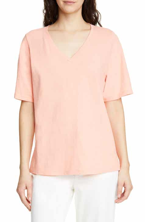 65369c7cfb800e Eileen Fisher V-Neck Organic Cotton Tee