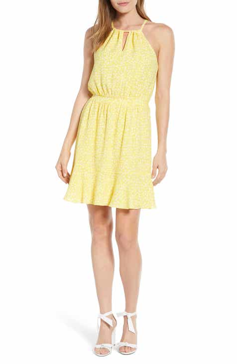 47618222d8 Gibson x Living in Yellow Calla Keyhole Halter Neck Dress (Regular    Petite) (Nordstrom Exclusive)