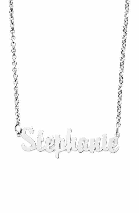 94f1e2856 Argento Vivo Personalized Script Name Necklace