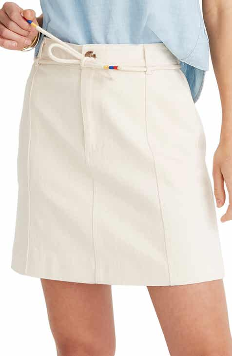 Gibson x Hi Sugarplum! Capri Tiered Tie Front Summer Skirt (Plus Size) by GIBSON