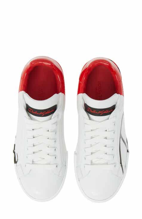 34ce97cd4618 Dolce Gabbana Script Logo Sneaker (Women)