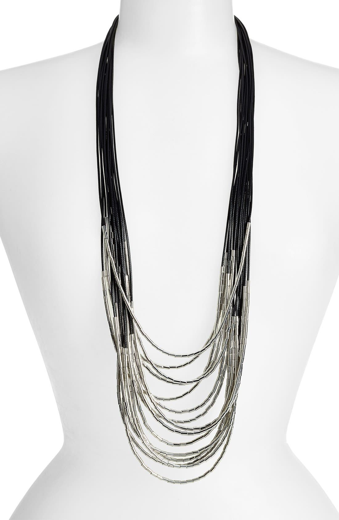 Alternate Image 1 Selected - Tasha Beaded Multi-Cord Long Necklace