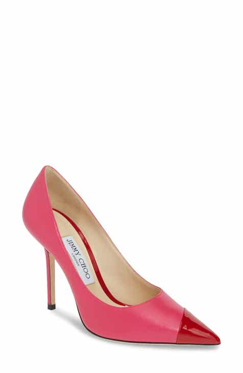 baf9e91ad8ff4e Jimmy Choo Love Asymmetrical Cap Toe Pump (Women)