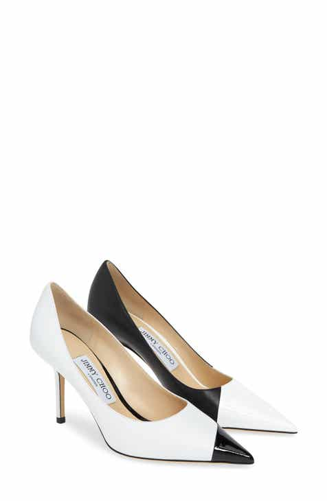 6c0600ee2595 Jimmy Choo Love Asymmetrical Cap Toe Pump (Women)