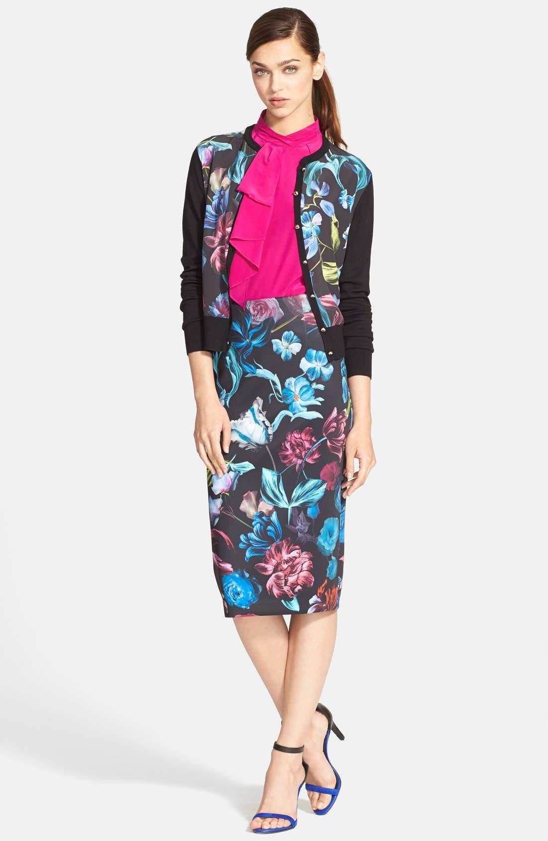 Alternate Image 4  - Ted Baker London 'Dabah' Floral Print Pencil Skirt