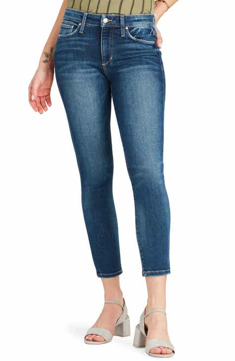 STS Blue Emma Cutoff Hem Crop Skinny Jeans (Optic White) by STS BLUE