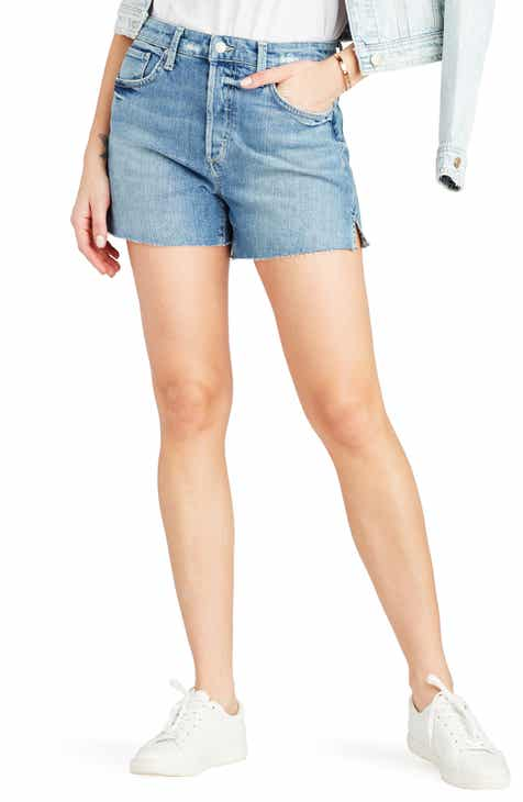 Joe's Smith High Waist Raw Hem Shorts (Cindy) by JOES