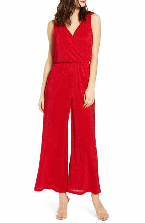51a5f1f2ff6 All in Favor Plissé Jumpsuit.  59.00. Product Image. RED WHITE FLORAL
