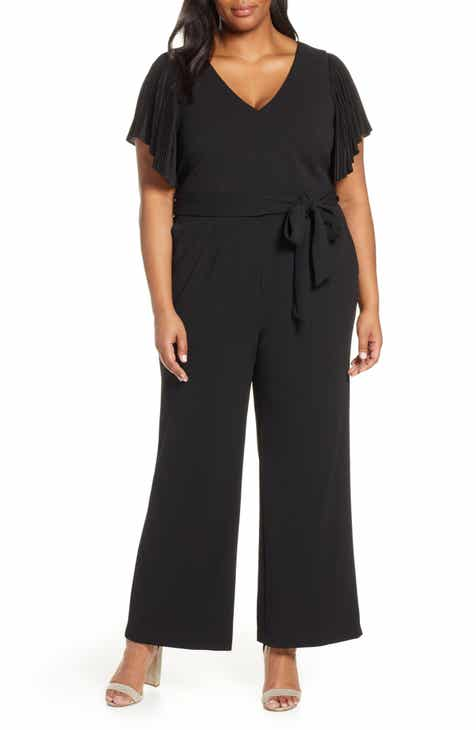 Eliza J Wide Leg Jumpsuit (Plus Size) by ELIZA J