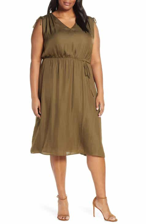44408121db2 Vince Camuto Tie Shoulder Dress (Plus Size)