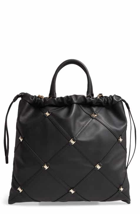 c3c3c235e7 Salvatore Ferragamo Vara Caged Calfskin Leather Tote