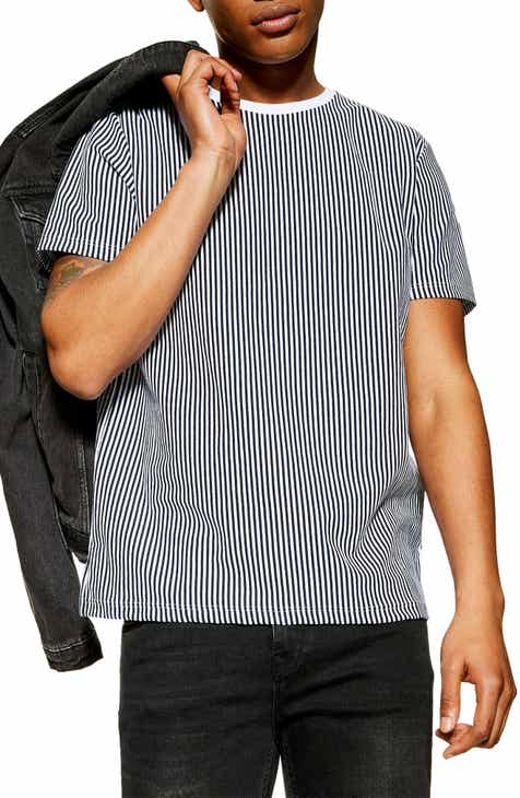 b6a8e3fda27 Topman Vertical Stripe T-Shirt