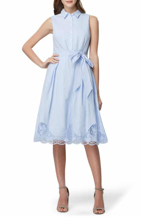 c9711cfb4c9 Tahari Lace Detail Cotton Voile Dress (Regular   Petite)