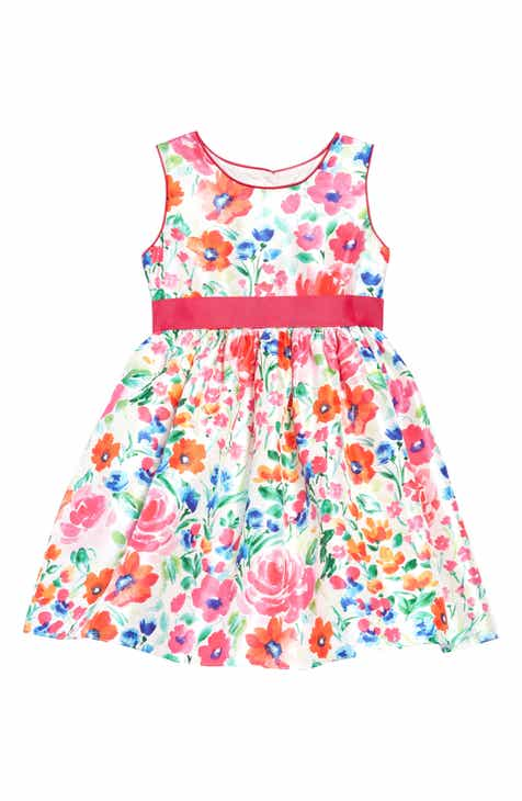 4ca263ac12 Frais Watercolor Garden Belted Party Dress (Toddler Girls