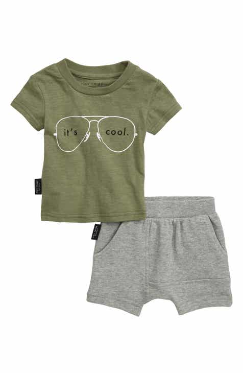 21cf4f9f2dcc72 TINY TRIBE It s Cool T-Shirt   Shorts Set (Baby)