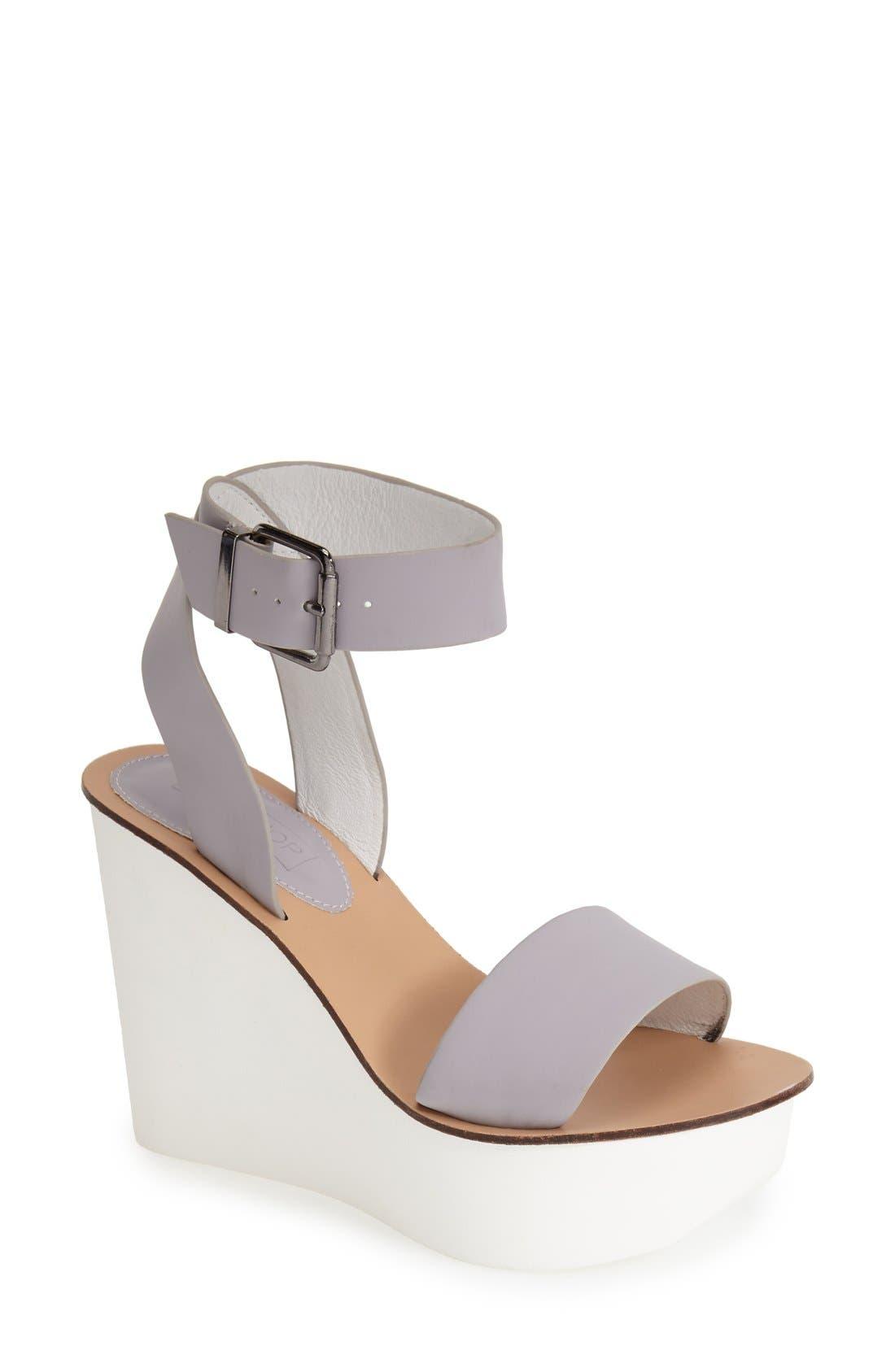 Main Image - Topshop 'Waffle' Platform Wedge Sandal (Women)