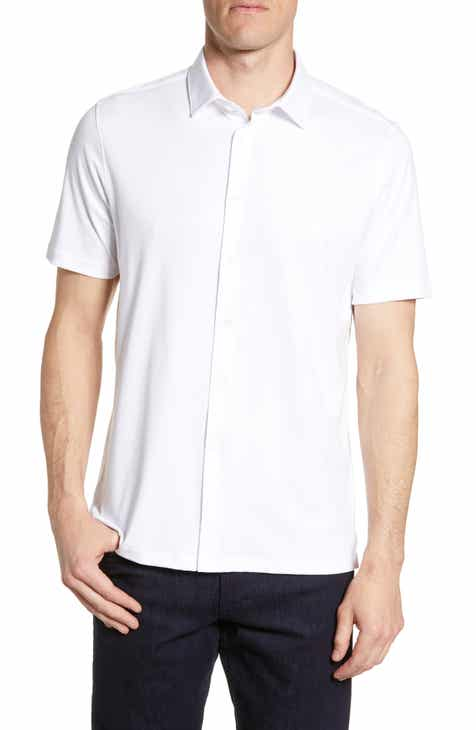 Bugatchi Regular Fit Pima Cotton Sport Shirt