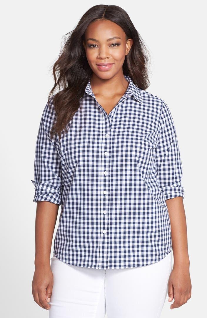 eloquii 39 perfect 39 gingham shirt plus size nordstrom